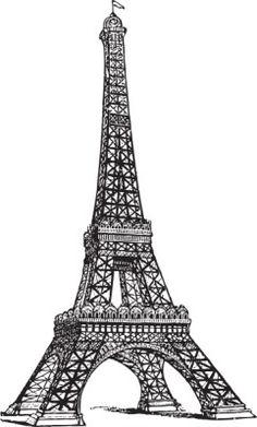 70 easy and beautiful eiffel tower drawing and sketches paintings vintage line drawing of the eiffel tower for digistamp or printable altavistaventures Choice Image