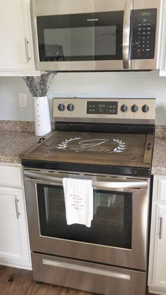Kitchen Stove Tops Mat Diy Cover Do This Furniture Top Custom Wooden Personalized Pantry