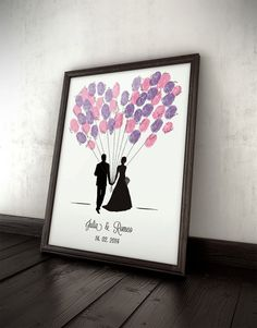 Gästebuch Ballons, Hochzeit, Fingerprints, Wedding on Etsy, 54,00 €