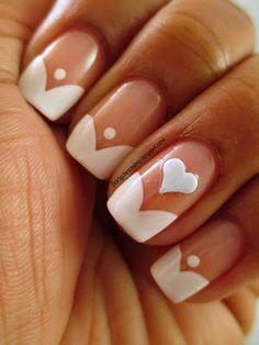French Manu nail art design