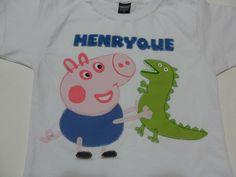 Camiseta infantil George da Peppa Pig.