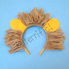 Handmade Animal Ear Headband Lion Tiger or Bear by felterrific