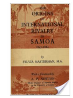 1845-1884 Samoa : out of print but must be sitting in a library somewhere ????? Where????