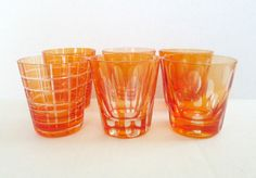 Hey, I found this really awesome Etsy listing at https://www.etsy.com/listing/224154652/modern-cut-glass-shot-glasses-mcm-red