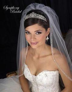 Elegant Symphony Bridal Wedding Tiara, style 7407CR.