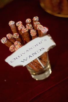 No Potter-head baby shower would be complete without a few of Ollivander's sprinkle wands.