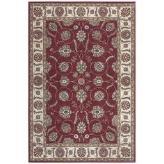 """Nourision MDS18 5'3""""X7'3"""" Rust Area Rug"""