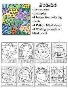 Patrick's Day fun for classroom teachers, art teachers, homeschool parents and anyone interested in March art activities. Coloring Pages, Coloring For Kids, Coloring Sheets, St Patricks Day Crafts For Kids, St Patrick's Day Crafts, St Patrick Day Activities, Holidays With Kids, Art Plastique, Art Activities