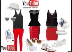 """Social Media-Inspired Outfits: 6 Looks Based On Popular Social Networking Sites"" #futurosemplice #socialoutfit (oggi mi sento youtube!)"