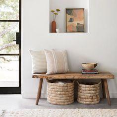 Contigo Pillow - Sand Tan Accent Pillow with Textured Stripes Decoration Inspiration, Room Inspiration, Interior Inspiration, Decor Ideas, Living Room Decor, Living Spaces, Bedroom Decor, Minimalist Home, Entryway Decor