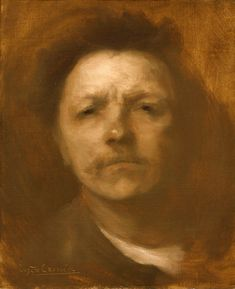 Eugène Carrière- self-portrait (1893)