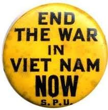 End the War in Viet Nam Now- Every night the evening news was filled with loud bombs and jungle soaked young men.