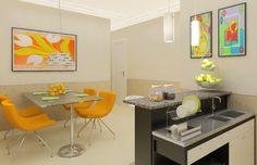 decoração de kitnet com cozinha americana - Pesquisa Google