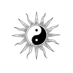 ✪☯☮ॐ American Hippie Psychedelic Art ~ Yin yang sun Tattoo P, Tattoo Drawings, Art Drawings, Ying Yang, Yin Yang Art, Yin Yang Tattoos, Moon Sun Tattoo, Sun Tattoos, Sun Art
