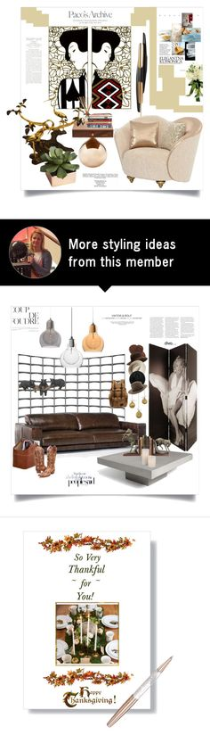 """El Dorado"" by ildiko-olsa on Polyvore featuring interior, interiors, interior design, home, home decor, interior decorating, Stilnovo, Yankee Candle, CB2 and Industrie"