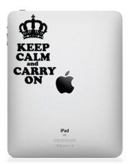 Keep Calm. iPad, iPad 2 or iPad 3 Sticker Decal
