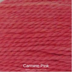 A ColourSpun Pure Cotton yarn and embroidery thread colour swatch. This colour is called Carmine Pink and is available on all our cotton bases. #carminepink #colour #purecotton #cottonyarn #embroiderythread Colour Swatches, Super Chunky Yarn, Fabric Yarn, Embroidery Thread, Fabric Design, Weaving, Pink, Cotton, Loom Weaving