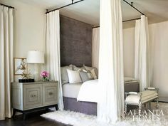 Love the bedside chest South Shore Decorating Blog: 25 Inspiring Bedrooms