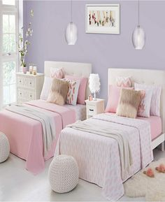 Warm teen girl bedrooms tips for that sweet teen girl room vibe, image number 4400807567 Twin Girl Bedrooms, Pink Bedrooms, Teen Bedroom, Bedroom Decor, Bedroom Ideas, Master Bedroom, Bedroom Furniture, Warm Bedroom, Furniture Dolly