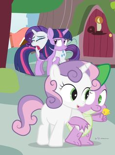 mlp spike and sweetie belle fanfic selfie with sweetie belle spike
