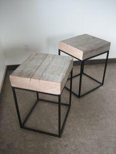 the Lucky Dumpster: beam block tables / echtgenoot lief aankijken