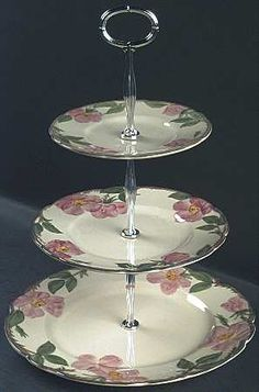 Franciscan Desert Rose 3 tiered stand. Gift to add to Mom's Franciscan set?