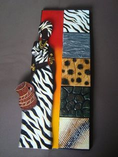 plantillas de mulatas - Buscar con Google African Dolls, African Masks, African Figurines, African Art Paintings, Les Continents, Indian Crafts, Art Africain, Africa Art, Unique Wall Art