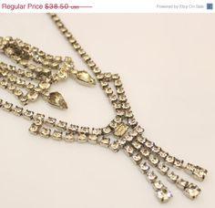 Spring Sale Vintage Clear Rhinestones Jewelry Set by DesignzByRuth, $34.65