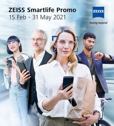 Recieve a pair of workspace lenses with ZEISS DuraVision BlueProtect coating (office OR readers) FREE when purchasing a pair of SmartLife Superb multifocal lenses. Contact your nearest Optical Emporio practice for further details.