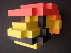 8 bit Mario Mask by cezkid.deviantart.com on @deviantART