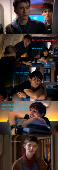 OMG! That's what I thought when I noticed merlin was in Dr. Who. It made me happy though XD
