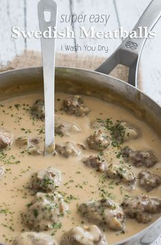 Watch out IKEA! I'm sharing these super easy Swedish Meatballs that are ready in less than 15 minutes and sure to knock your socks off!
