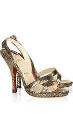 Christian Louboutin Fine Romance 120 leather slingback sandals