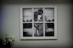 Love having a LARGE photo covering the old window