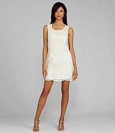 Tahari Sleeveless Sequin and Bead Dress #Dillards; http://www.dillards.com/product/Tahari-Sleeveless-Sequin-and-Bead-Dress_301_-1_301_503455902?df=03809905_zi_ivory_white