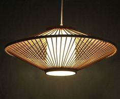 Creative Bamboo and Parchment Pendant Lamp 110-240V One by VIWEI