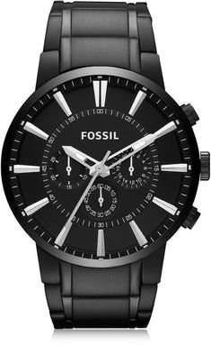 0c3fcb0ec687f Fossil Others Black Stainless Steel Men s Chronograph Watch