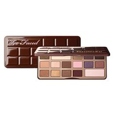too faced chocolate bar eye shadow collection is a delectable collection of sweetly tempting eye shadows.featuring 16 candy inspi...