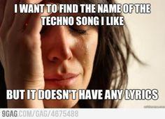 I love techno song!