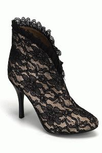 Nude Black Lace Satin Lace Slip On Ankle Boots / Sexy Clubwear Black Lace Boots, Lace Ankle Boots, Sexy Boots, Lace Shoes, Lace Booties, Black Heels, Ankle Booties, Lace High Heels, Womens High Heels