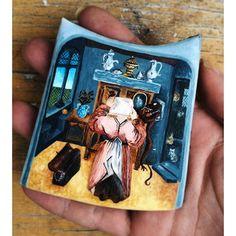 """@lambakery's photo:Гордыня - второй фрагмент картины Босха #jheronimusbosch #Bosch #painting #art #cookies #paintedcookies #decoratedcookies #royalicing #bakery #lambakery #kiev #kyiv #ukraine #cookiesofinstagram #киев #украина #печенье #Босх #художник #рисование #вдохновение #картина #подарок #україна #київ"""""""