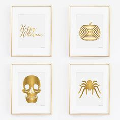 Gold Halloween Collection Printable Art  by PennyJaneDesign, $13.00
