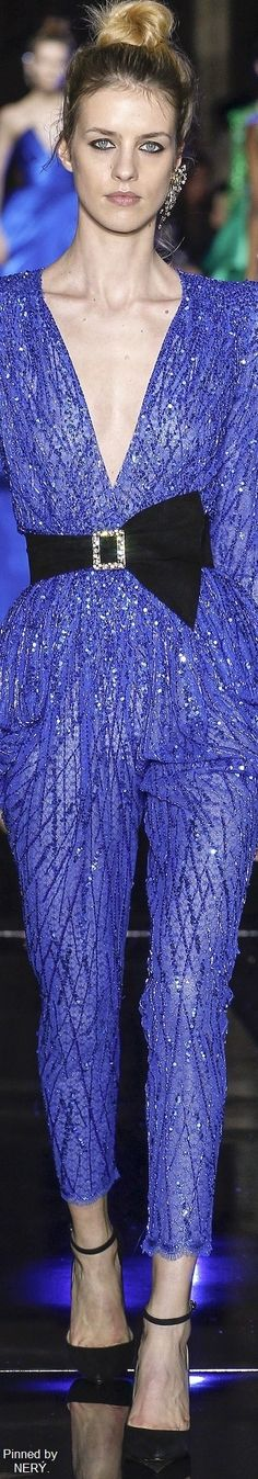 Zuhair Murad Spring 2017 Couture Collection - Share The Looks Fashion 2017, Fashion Show, Girl Fashion, Fashion Outfits, Blue Fashion, Men Fashion, Fashion Brands, Blue Dresses, Casual Dresses