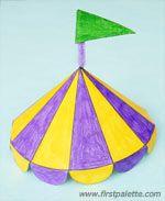 Step 5c Paper Circus Tent craft