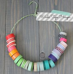 Repurpose a wire coat hanger for washi tape - If you're in need of craft storage ideas for your craft room then this list is exactly what you need to read! This washi tape storage is an excellent idea! Diy Washi Tape Organizer, Washi Tape Crafts, Diy Washi Tape Storage, Washi Tapes, Craft Room Storage, Craft Organization, Storage Ideas, Organizing Ideas, Craft Rooms