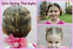 little girl updos tutorial videos | Girls Spring Hairstyles Tutorial