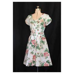 Vintage 80s Loves Promise of a Rose Garden in Full Bloom Medium Large. $44.00, via Etsy.