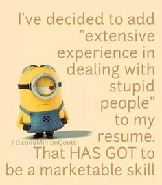 "These ""Top Humorous Minion Quotes"" are especially collected for you.It will make you funny for whole day.So scroll down and keep reading these ""Top Humorous Minion Quotes"". Funny Shit, Haha Funny, Funny Cute, Funny Memes, Hilarious, Funny Stuff, Funny Work, Minion Humour, Minion Jokes"