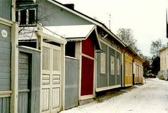 Old Rauma Wooden Architecture, West Coast, 18th Century, Finland, The Neighbourhood, Shed, Outdoor Structures, Outdoor Decor, The Neighborhood