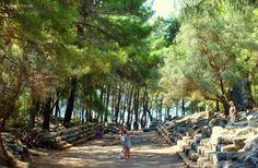 Hadrian's Agora, #Phaselis. Phaselis was the first stop on our Kemer to Kekova #GuletVoyage